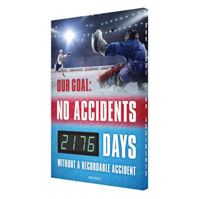 Make a Goal, No Accidents _ Days Without a Recordable Accidents (Updated) Safety Scoreboard