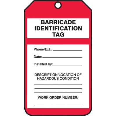 Barricade Identification Tag