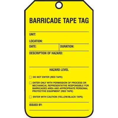 Barricade Tape Tag | SAFETYCAL, INC