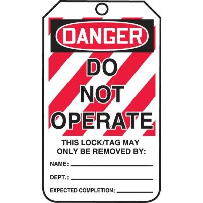 Danger - Do Not Operate OSHA Lockout Tag