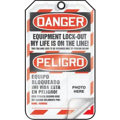 Danger - Locked Out, My Life is on the Line OSHA Flapped Lockout Tag