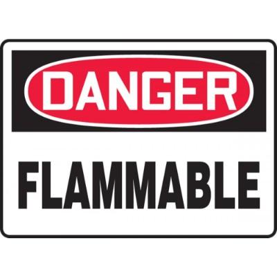 Danger - Flammable OSHA HazMat Sign