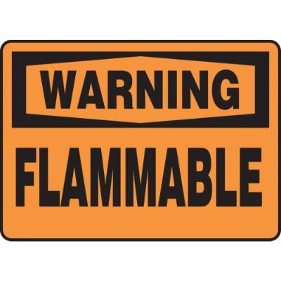 Warning - Flammable OSHA HazMat Sign