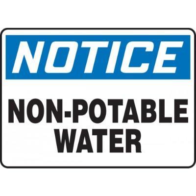 Notice - Non-Potable Water OSHA HazMat Sign
