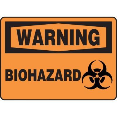 Warning - Biohazard OSHA HazMat Sign
