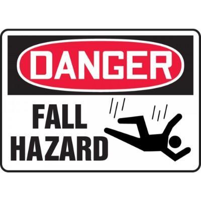 Danger - Fall Hazard OSHA Construction Sign