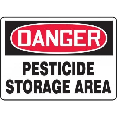 Danger - Pesticide Storage Area OSHA HazMat Sign