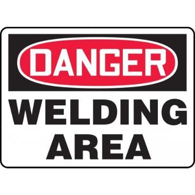 Danger - Welding Area OSHA HazMat Sign
