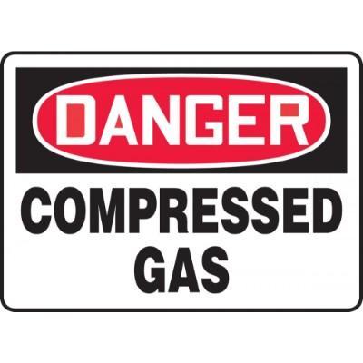 Danger - Compressed Gas OSHA HazMat Sign