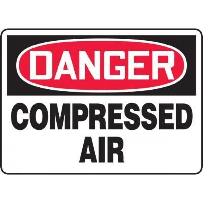 Danger - Compressed Air OSHA HazMat Sign