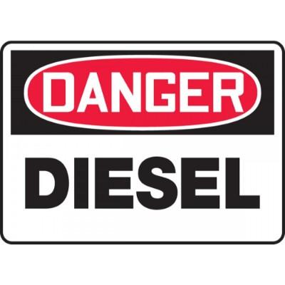 Danger - Diesel OSHA HazMat Sign