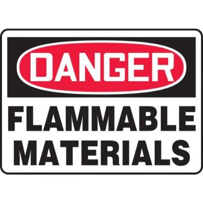Danger - Flammable Materials OSHA HazMat Sign