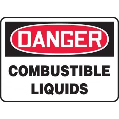 Danger - Combustible Liquids OSHA HazMat Sign