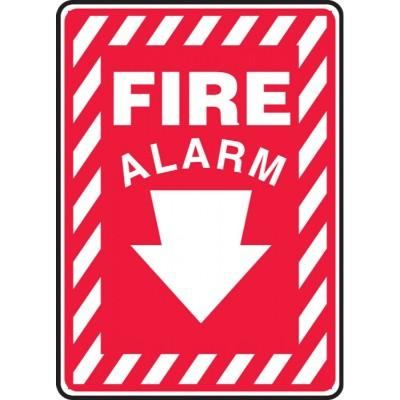 Fire Alarm Sign (Arrow Down)