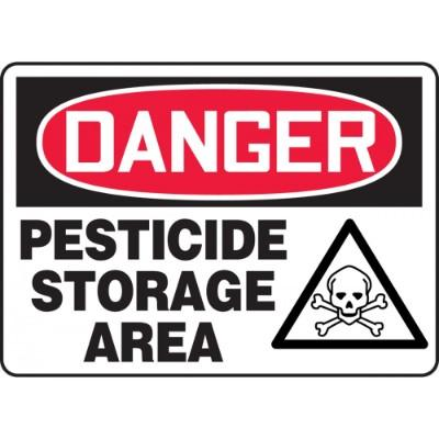 Danger - Pesticide Storage Area (Graphic) OSHA HazMat Sign