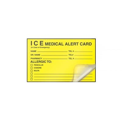 ICE Medical Alert Self-Laminating Wallet Card