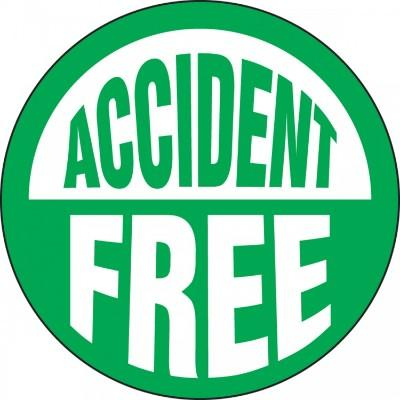 Accident Free Hard Hat Sticker