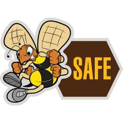 (Bee) Safe Hard Hat Sticker