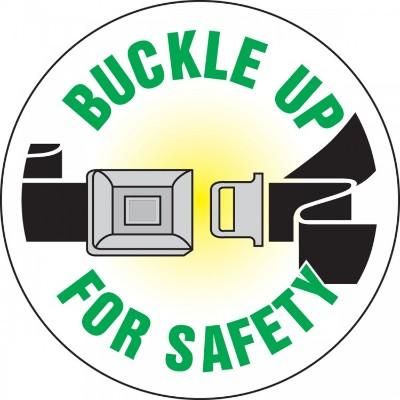 Buckle Up for Safety Hard Hat Sticker