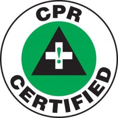 CPR Certified Hard Hat Sticker