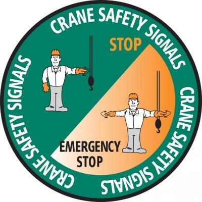 Crane Safety Signals Hard Hat Sticker