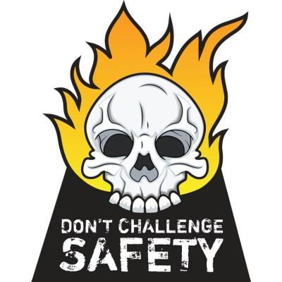 Don't Challenge Safety Hard Hat Sticker