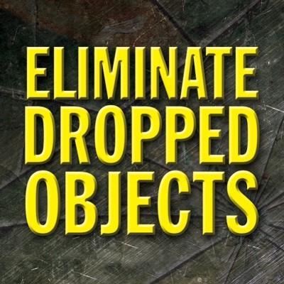 Eliminate Dropped Objects Hard Hat Sticker