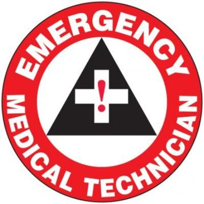 Emergency Medical Technician Hard Hat Sticker