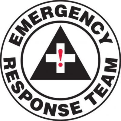 Emergency Response Team Hard Hat Sticker
