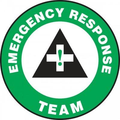 Emergency Response Team Hard Hat Sticker (Green)