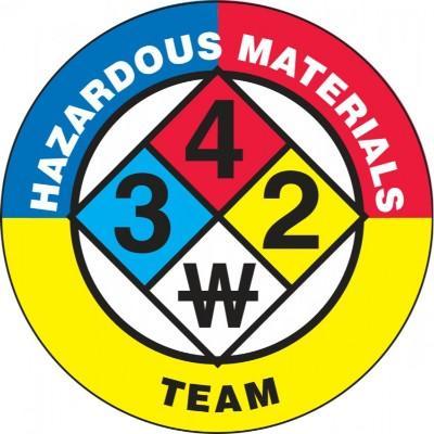 Hazardous Materials Team Hard Hat Sticker