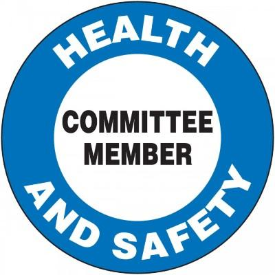 Health and Safety Committee Member Hard Hat Sticker