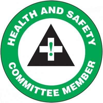 Health and Safety Committee Member Hard Hat Sticker (Green)
