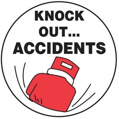 Knock Out Accidents Hard Hat Sticker