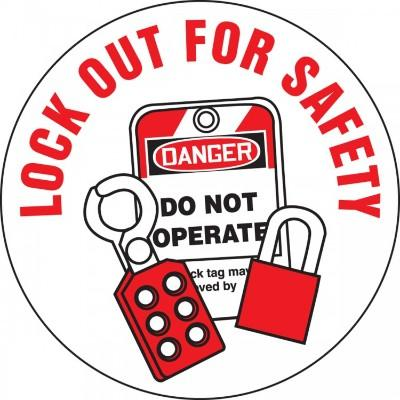 Lock Out for Safety Hard Hat Sticker