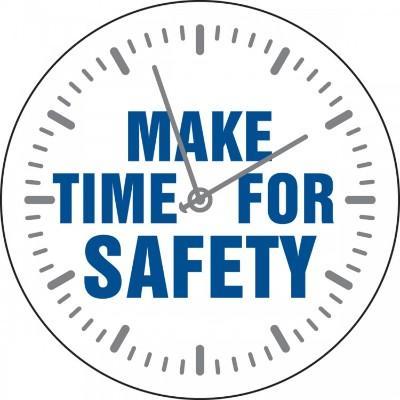 Make Time for Safety Hard Hat Sticker