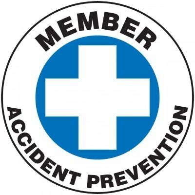 Member Accident Prevention Hard Hat Sticker