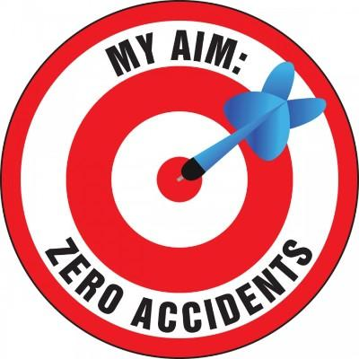 My Aim Zero Accidents Hard Hat Sticker