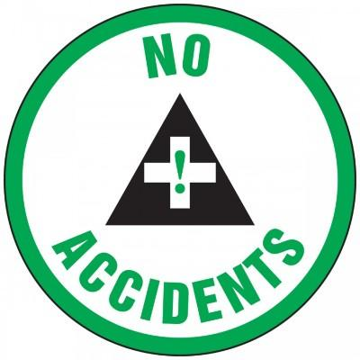 No Accidents Hard Hat Sticker