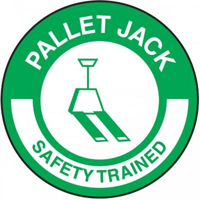 Pallet Jack Safety Trained Hard Hat Sticker