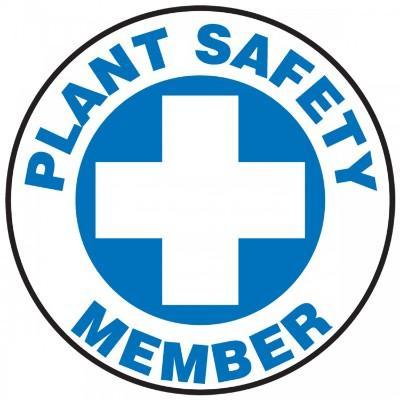 Plant Safety Member Hard Hat Sticker