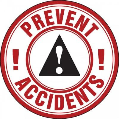Prevent Accidents Hard Hat Sticker