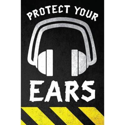 Protect Your Ears Hard Hat Sticker