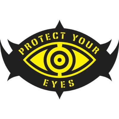 Protect Your Eyes Hard Hat Sticker