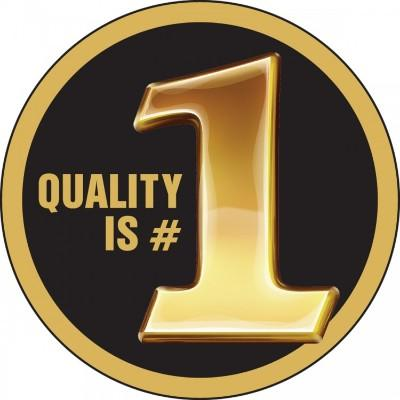 Quality is #1 Hard Hat Sticker
