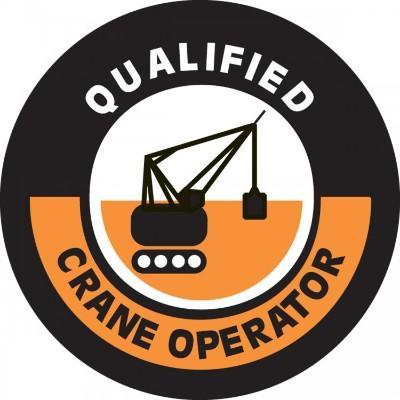 Qualified Crane Operator Hard Hat Sticker