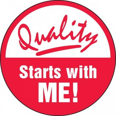 Quality Starts With Me Hard Hat Sticker