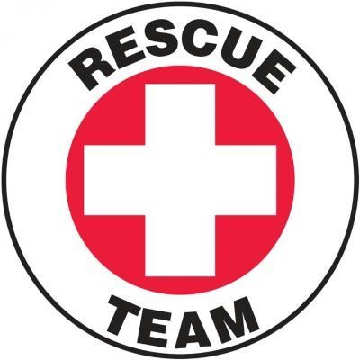 Rescue Team Hard Hat Sticker