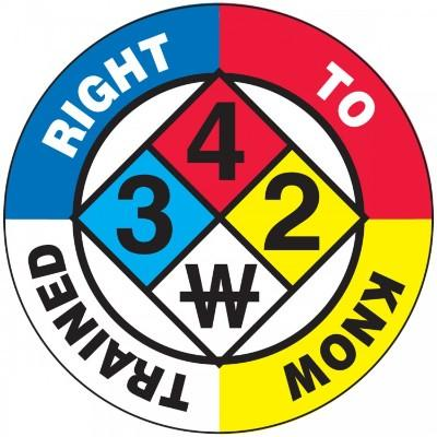 Right to Know Trained Hard Hat Sticker