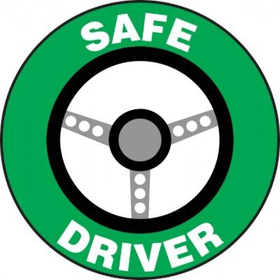 Safe Driver Hard Hat Sticker (Steering Wheel)
